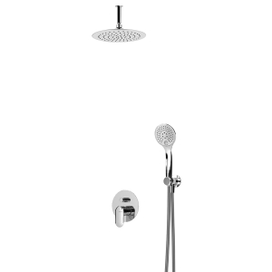 Душевой набор скрытого монтажа с ABS лейкой и ручным душем